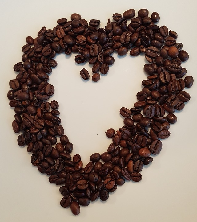 Coffee Beans in Shape of Heart