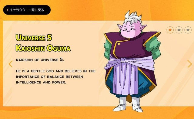 Kaioshins of the 12 universes