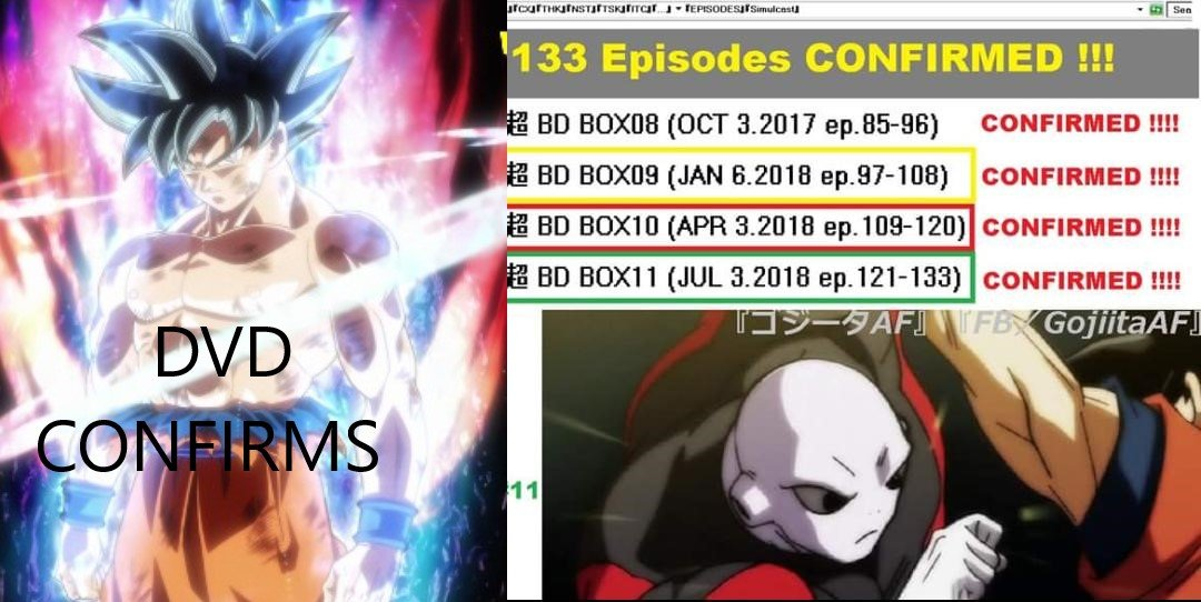 Dragon Ball Super 133 Episodes Confirmed For Now By Dvd S