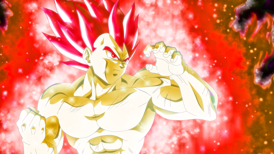Vegeta Super Saiyan God in Dragon Ball Super Movie