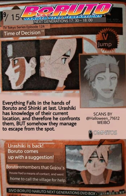 Boruto Episode 123, 124, 125, 126, 127 Spoilers, Discussion