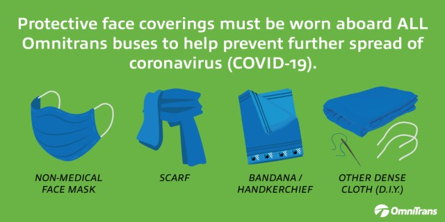 Face coverings required to board buses