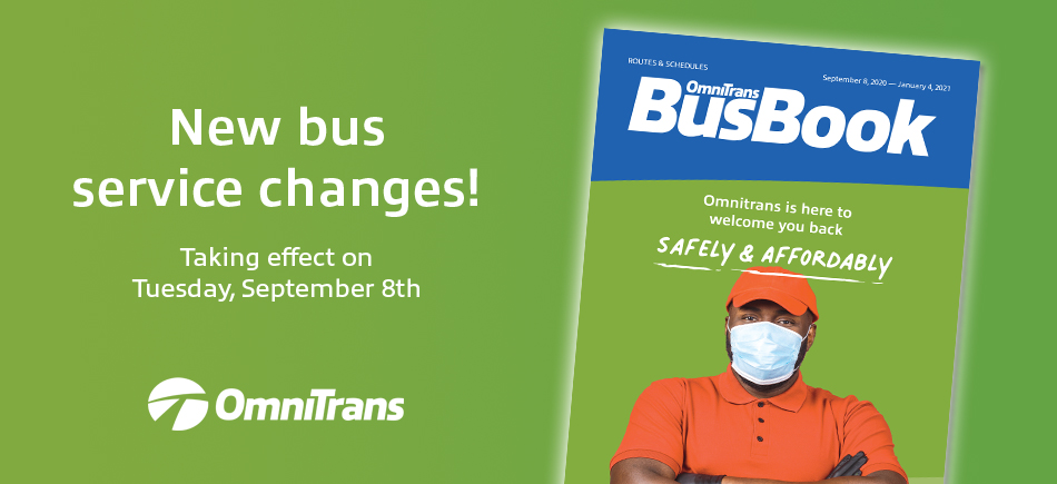 september 2020 service changes