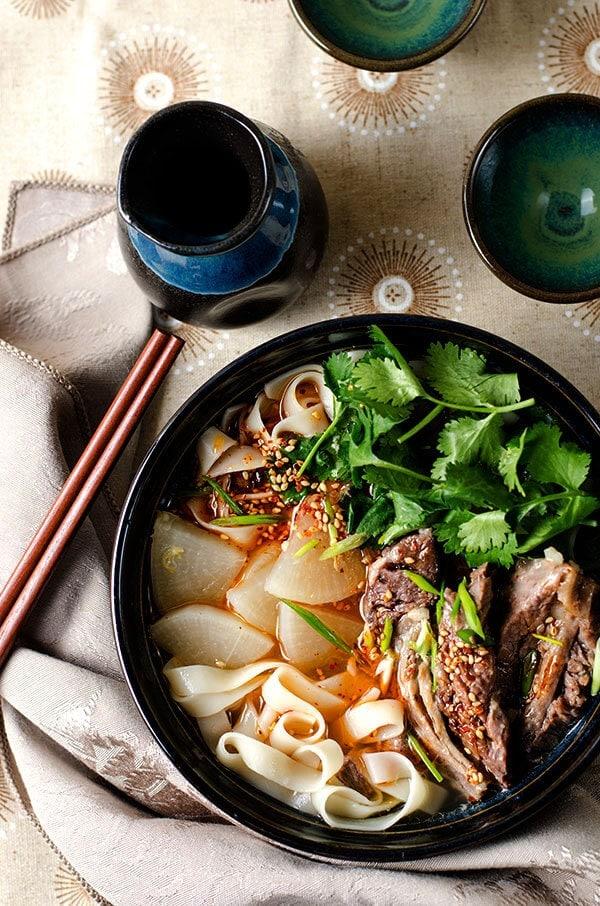 lanzhou beef noodles 兰州拉面  omnivore's cookbook