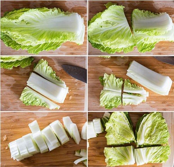 How to Cut Napa Cabbage | omnivorescookbook.com