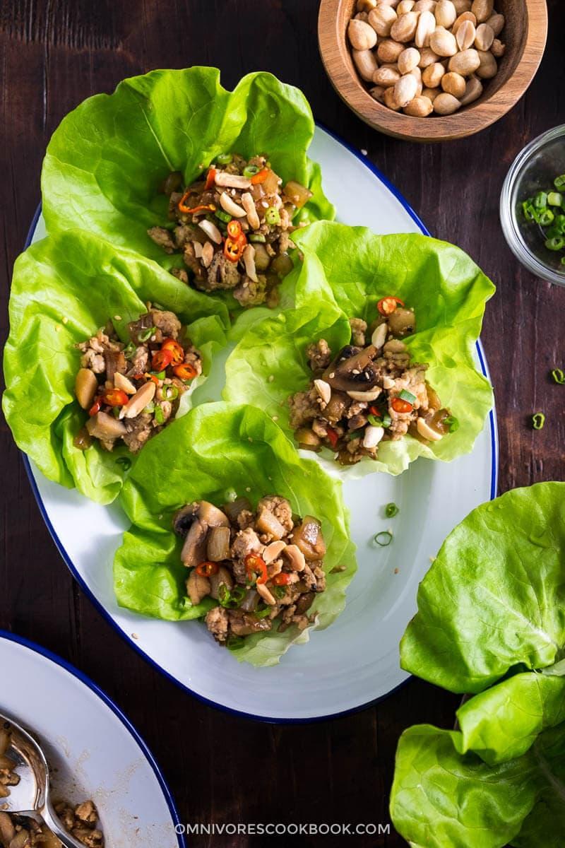 Easy Chicken Lettuce Wrap  Omnivores Cookbook
