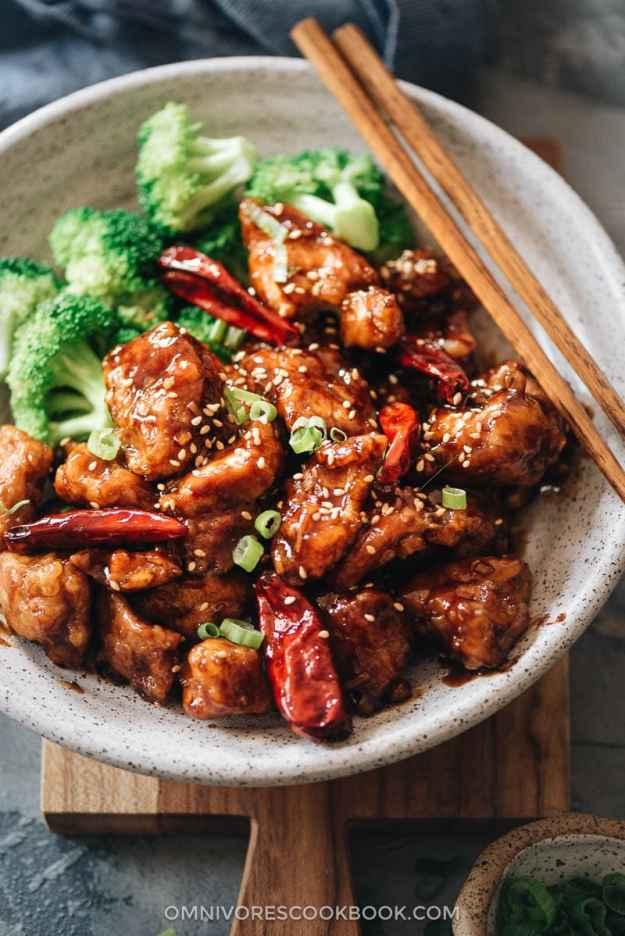 General Tso's Chicken close up