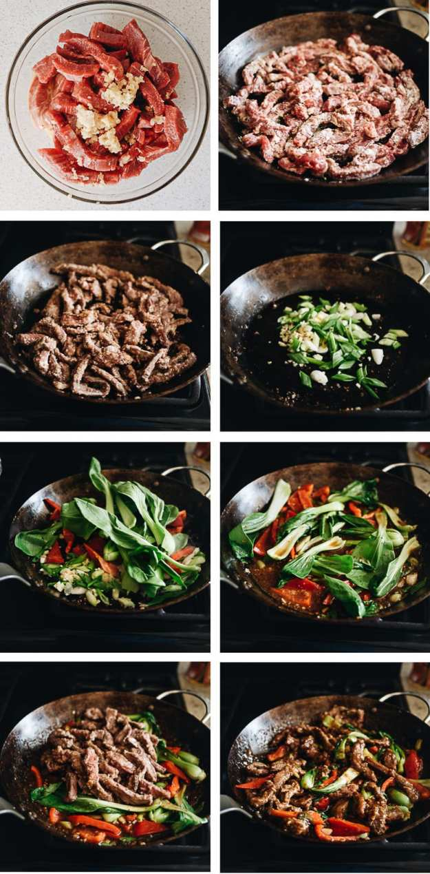 Ginger beef cooking step-by-step