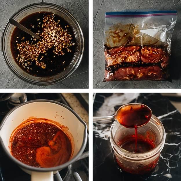 Prepping for char siu pork