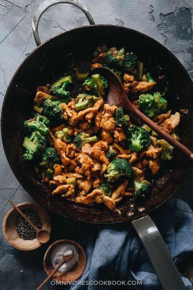 Stir fried chicken with broccoli