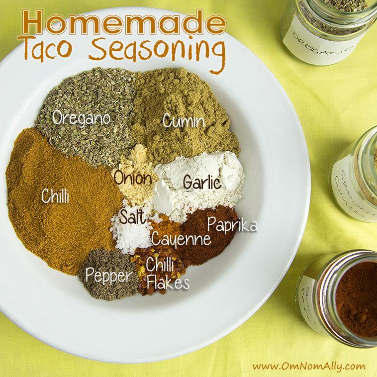 Diy Homemade Taco Seasoning  @omnomally