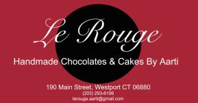 Le Rouge Cafe Aarti Logo