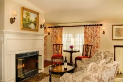 Fireplace room from Saybrook Point Inn