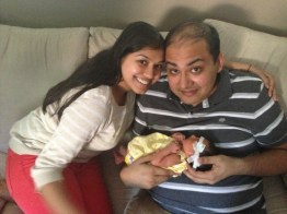 July 2013: With my beautiful niece, Sonia! Oh yeah, and my big brother, Kunal too :)