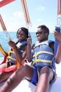 parasailing with Trysha