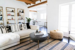 LA house after _ living room