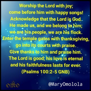 Psalm 100:2-5