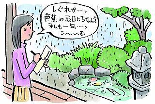 芭蕉の忌日「時雨忌(しぐれき)」