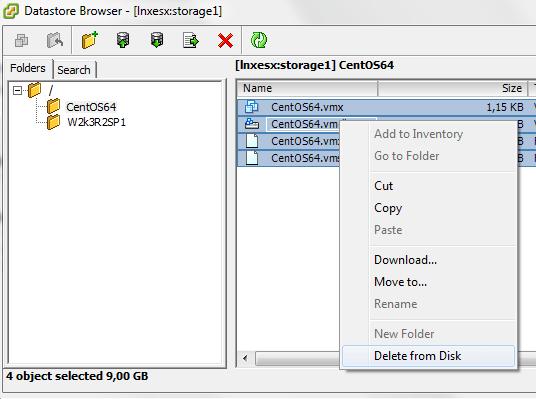 Delete VMDK Files