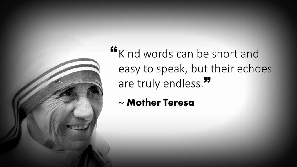 Mother Teresa Customer Service Quote