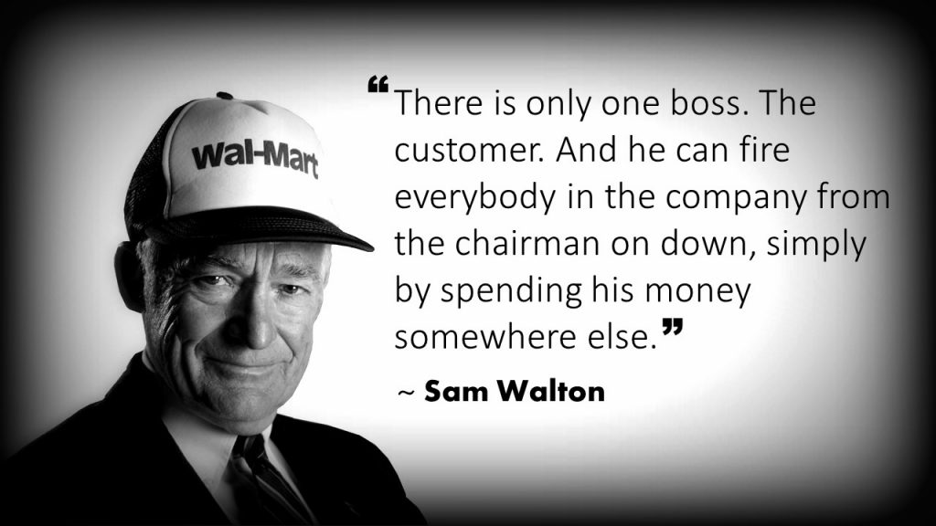 Sam Walton Customer Service Quote