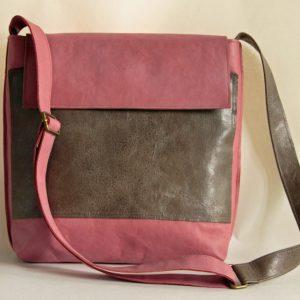 Tasche Rosa mit Graubraun