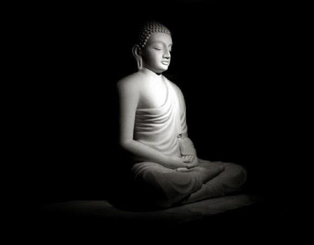 Buddha black background