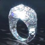 Pressure created the diamond