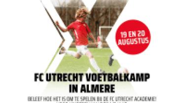 FC Utrecht Voetbalkamp in de zomervakantie bij AS'80.