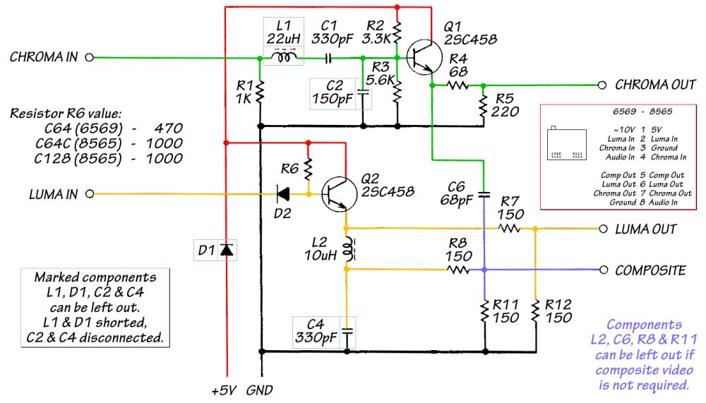 medium resolution of video adapter to vga schematic