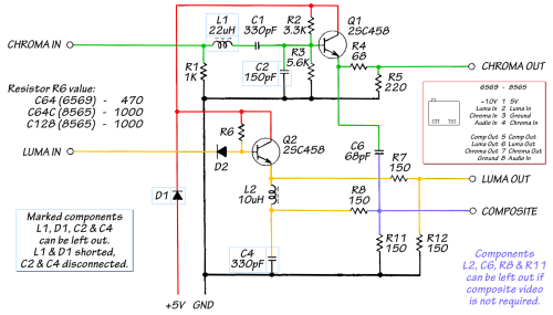 small resolution of video adapter to vga schematic