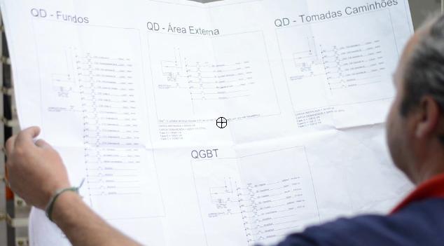 banco de capacitores: imagem de projeto