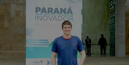 Paraná Inovador: imagem de engenheiro Henrique Costa no evento Paraná Inovador