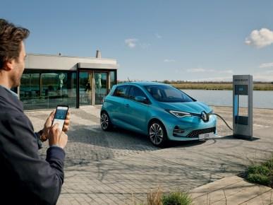 Carro elétrico Renault: imagem de Ranault Zoe,