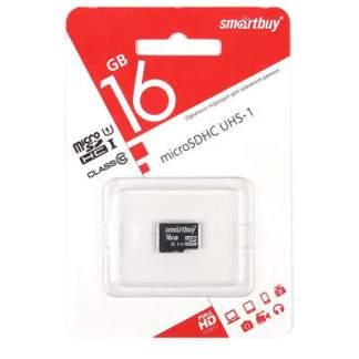 карта памяти Micro-SD Smartbuy 16Gb