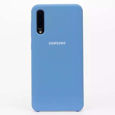 Силиконовый чехол Soft Touch для Samsung Galaxy A50 A30s синий