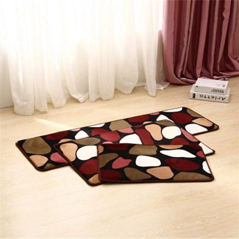 kitchen carpet sets kids table 珊瑚绒地毯地垫单条装三件套多种规格选项吸水防滑保暖垫厨房垫 一品购商城