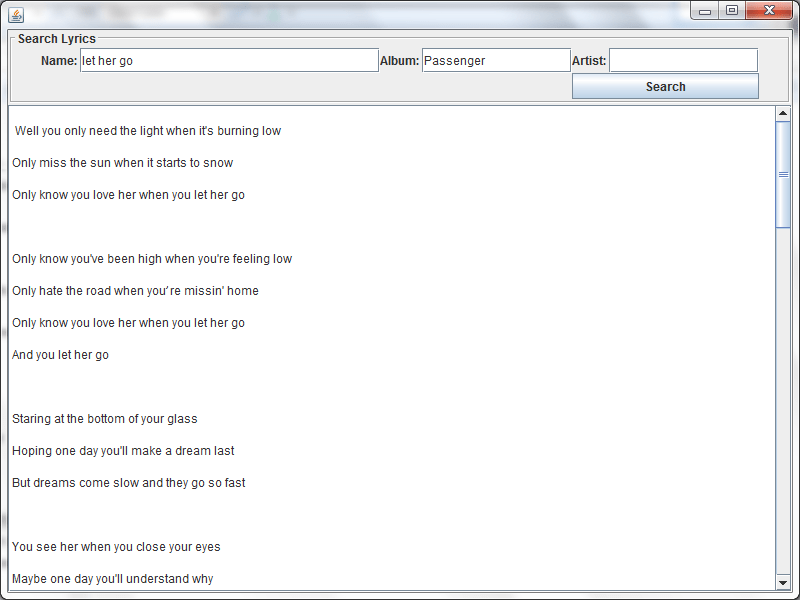 Search Lyrics