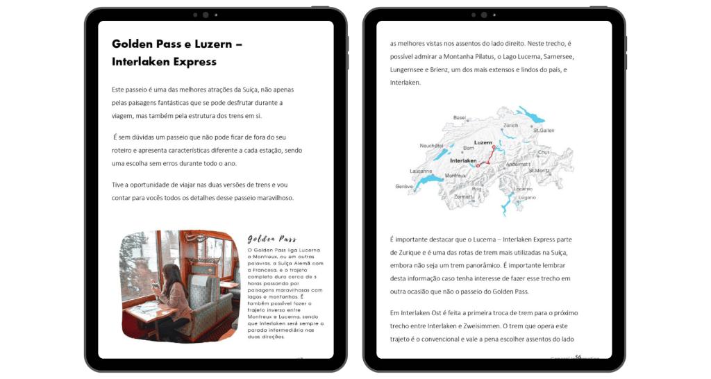 Ebook de viagem da Suíça