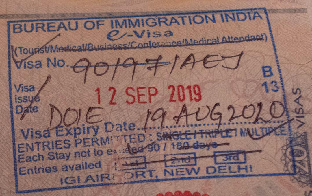 Visto de viagem da Índia