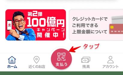 PayPay:支払うボタン