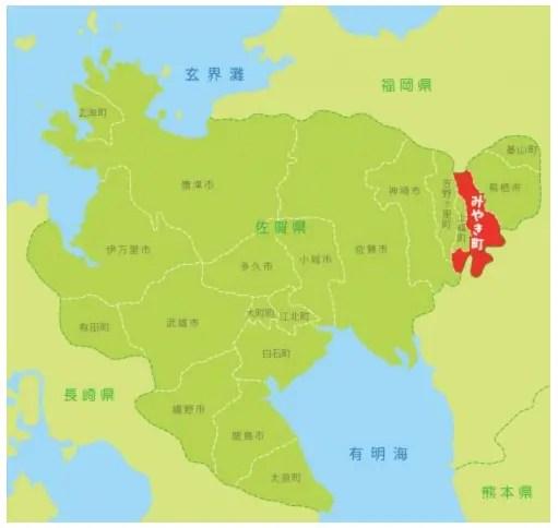 佐賀県みやき町の場所