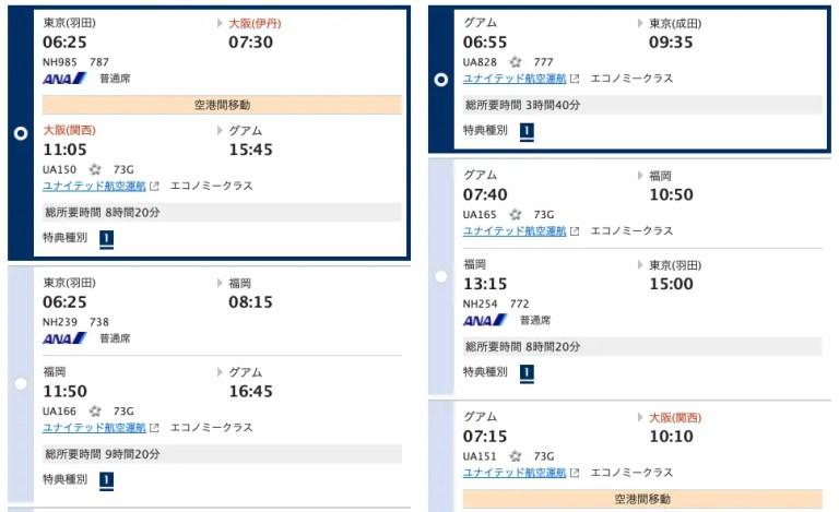 2019年夏休み:特典航空券グアム
