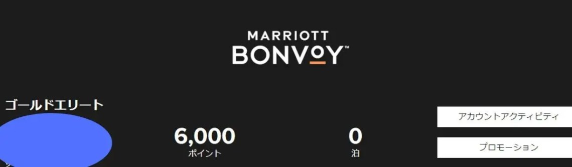 マリオット ポイント画面