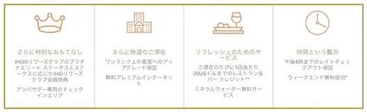 インターコンチネンタルホテル アンバサダープログラム特典