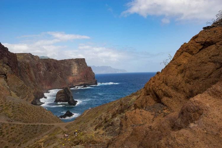 wunderschöne Küstenlandschaft in Ponta de Sao Lorenco