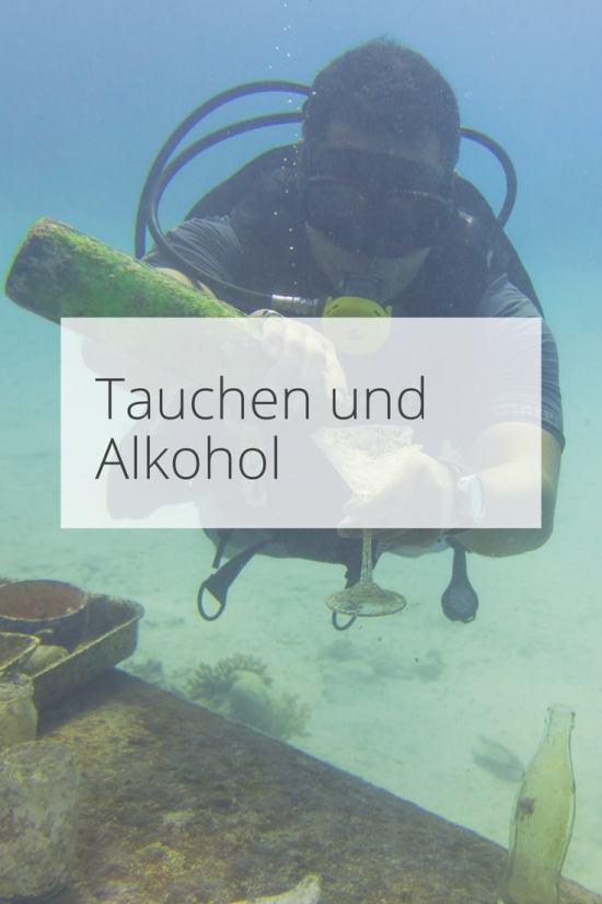 Tauchen und Alkohol