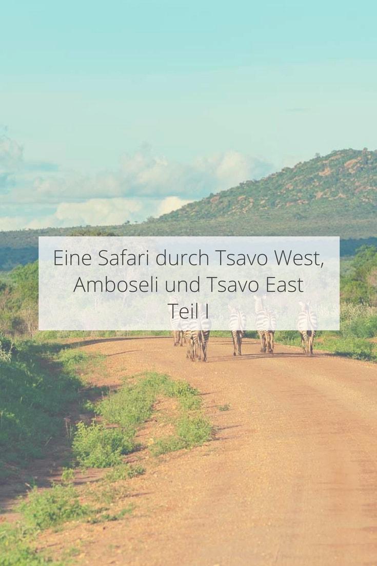 Safari im Nationalpark Tsavo West in Kenia
