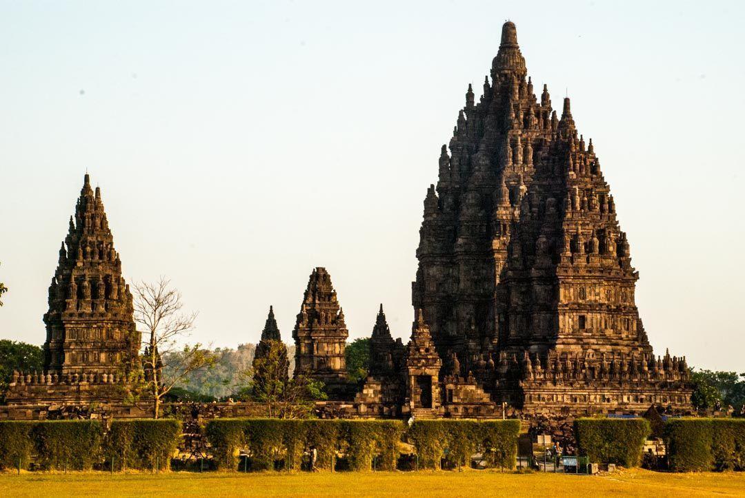 el templo de Prambanan, en la isla de Java, Indonesia.