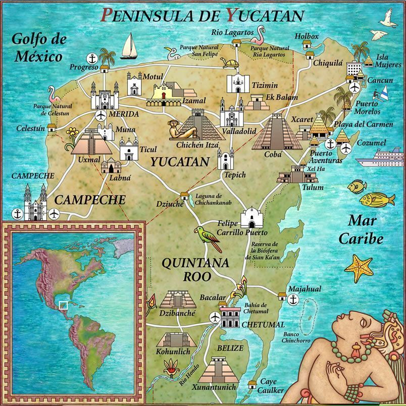 mapa-turístico-Riviera-Maya